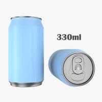 3D beverage 330ml model