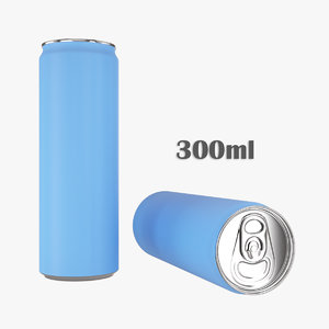 3D beverage slim 300ml model