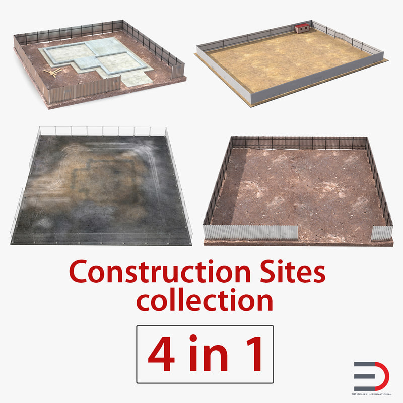 construction sites 3D model