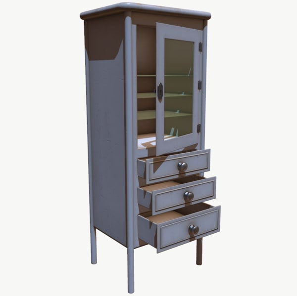 3D wooden cupboard