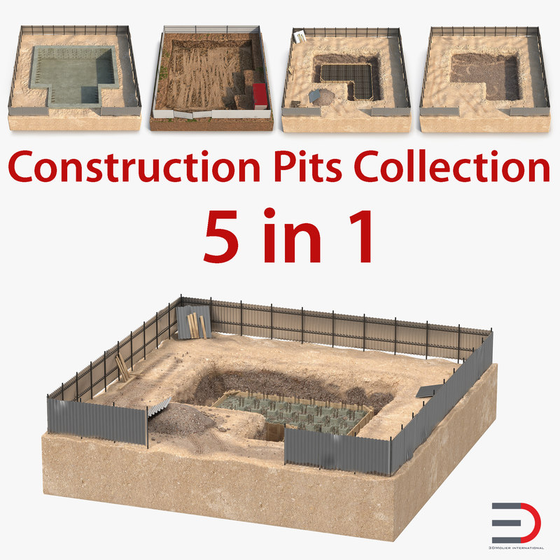 3D construction pits model