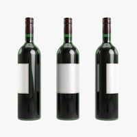 3D bottle red wine