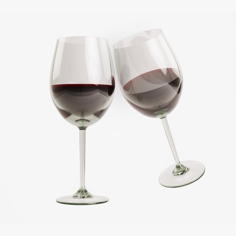 glass red wine 3D model