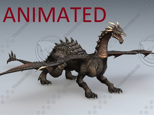 dragon rigged vr ar 3D model