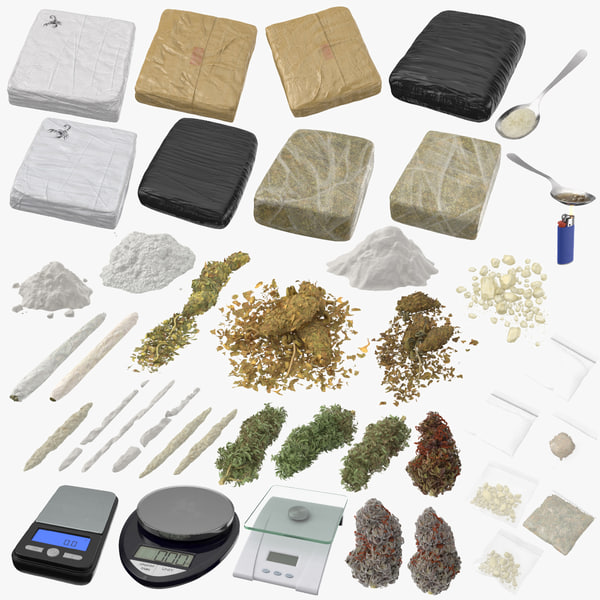 drugs scales marijuana model