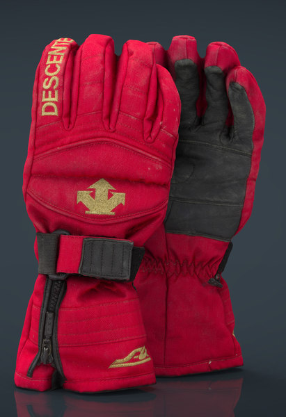 realistic ski gloves 3D