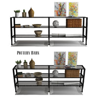 pottery barn tanner long 3D model