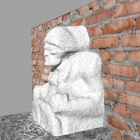 sailor statue 3D model