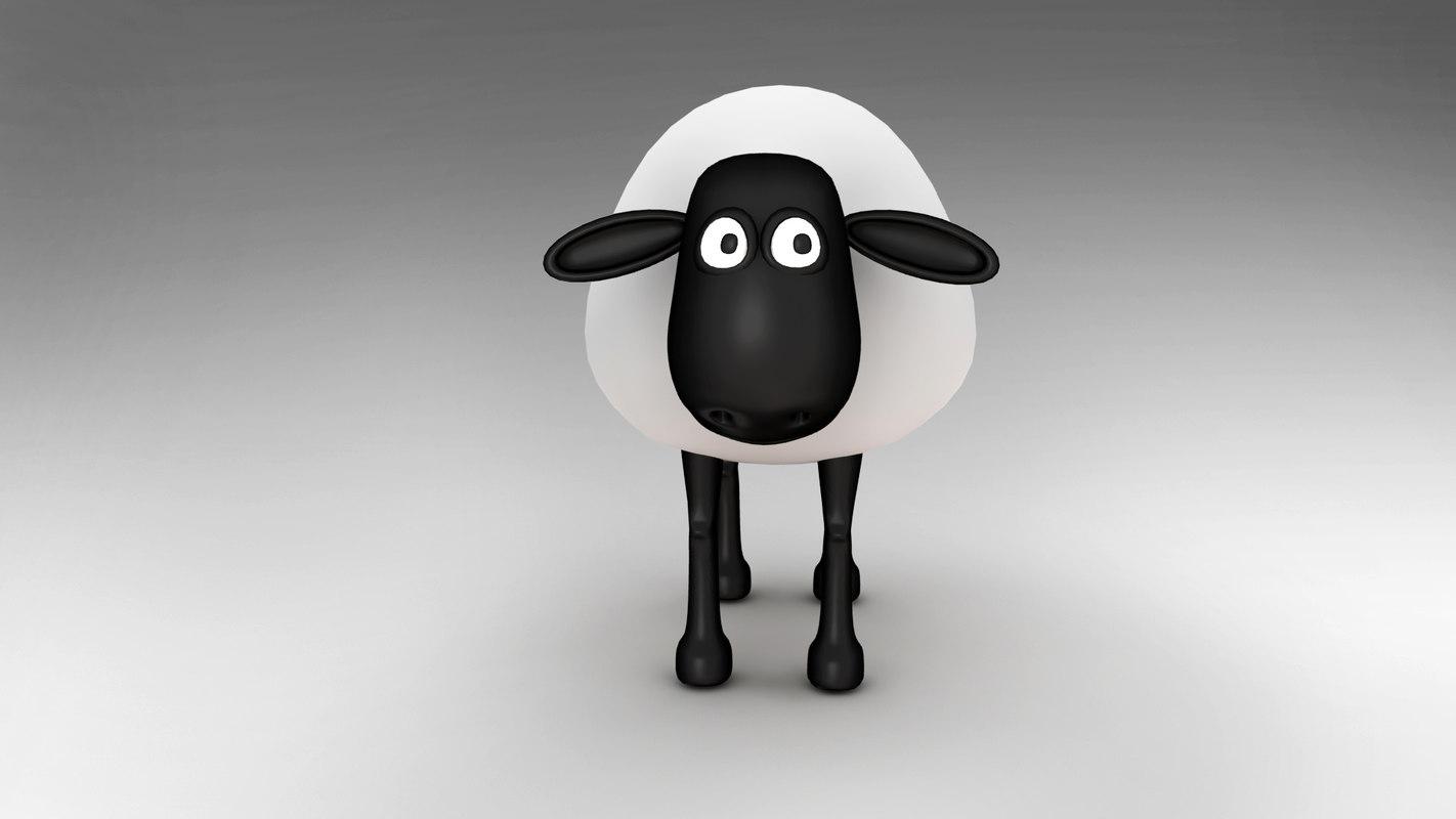 sheep character 3D model