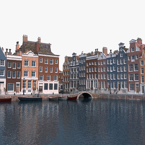 amsterdam scene 3D model