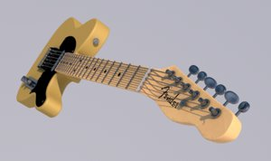 guitar rock blues 3D