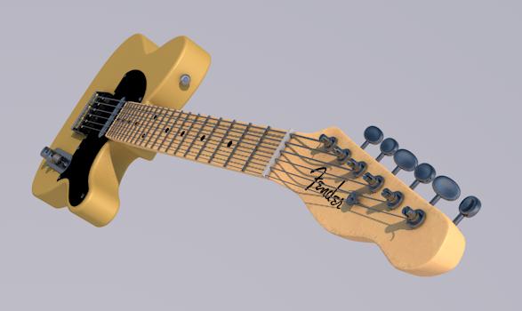 guitar rock blues 3D