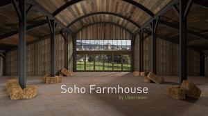3D oxford soho farmhouse model