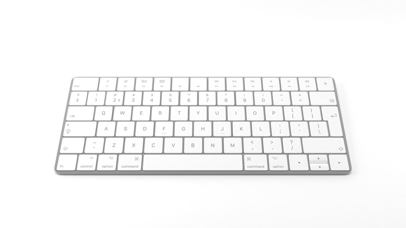 apple magic keyboard 3D model