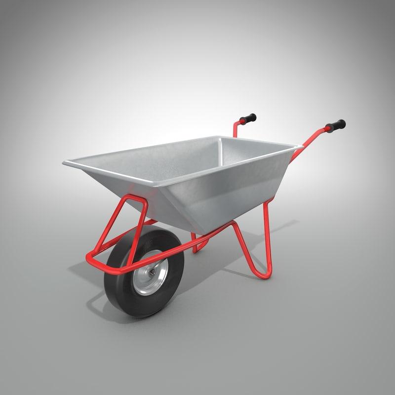 wheel barrow 3D model
