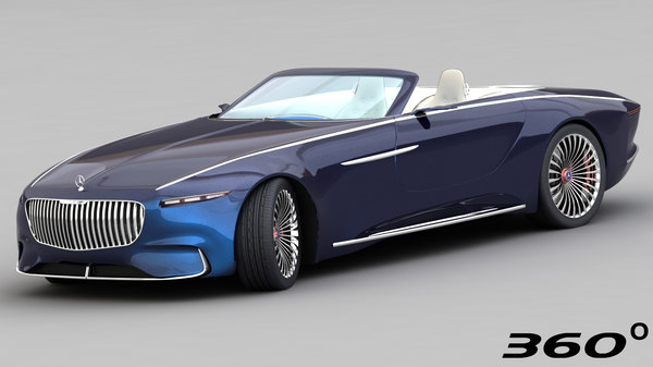 3D mercedes-maybach vision 6 2018