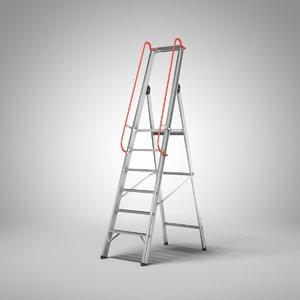 folding ladder platform 3D