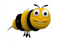 3D bee character model
