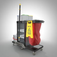 cleaning cart with mop