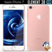 3D apple iphone 7 element model