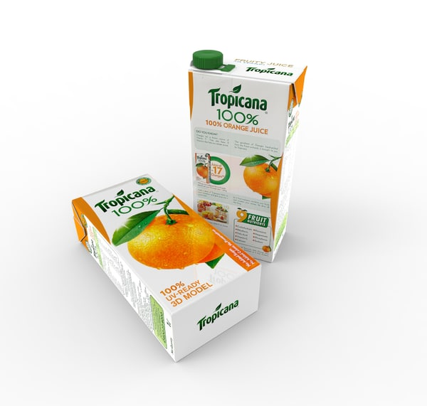 packaging renders 3D model