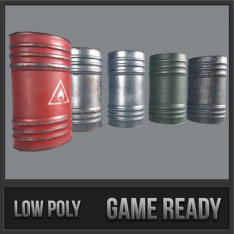 3D barrels pbr