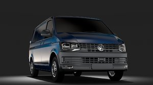 3D volkswagen transporter van l1h1 model