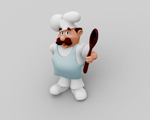 chef character 3D model