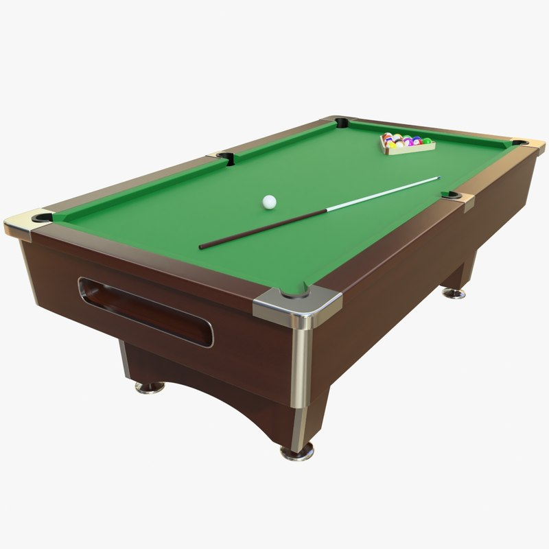 realistic pool table 3D model