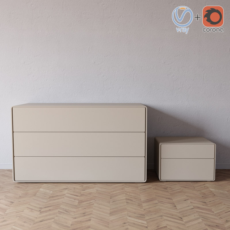 3D sideboard ice presotto model