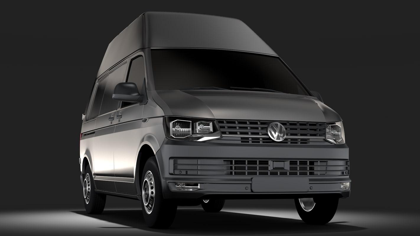 volkswagen transporter van 3D model