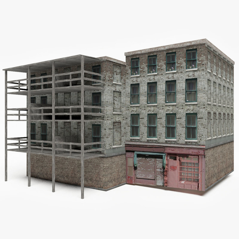 Old Apartment: 3D Ready Old Apartment Building Model
