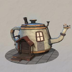 3D fantasy teapot house