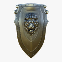 3D model kite shield steel