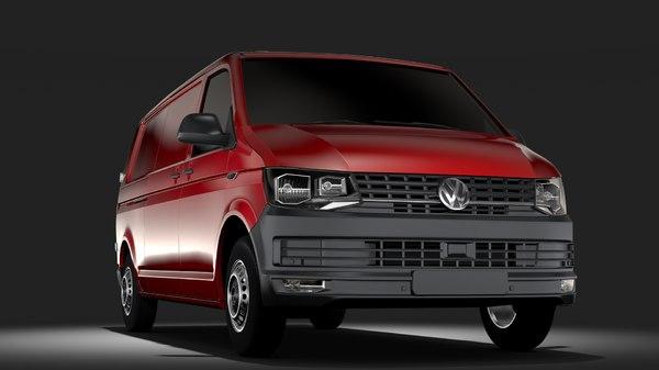 volkswagen transporter van l2h1 3D model
