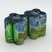 Beer Can Heineken 500ml 4pack