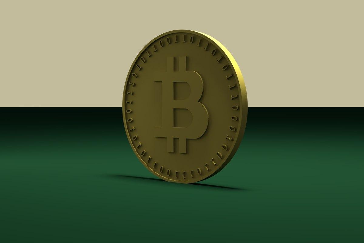 3D coins symbol bitcoin cycles