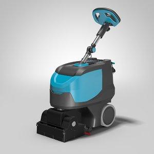 3D floor cleaning machine