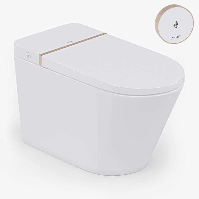 axent primus tankless toilet 3D model