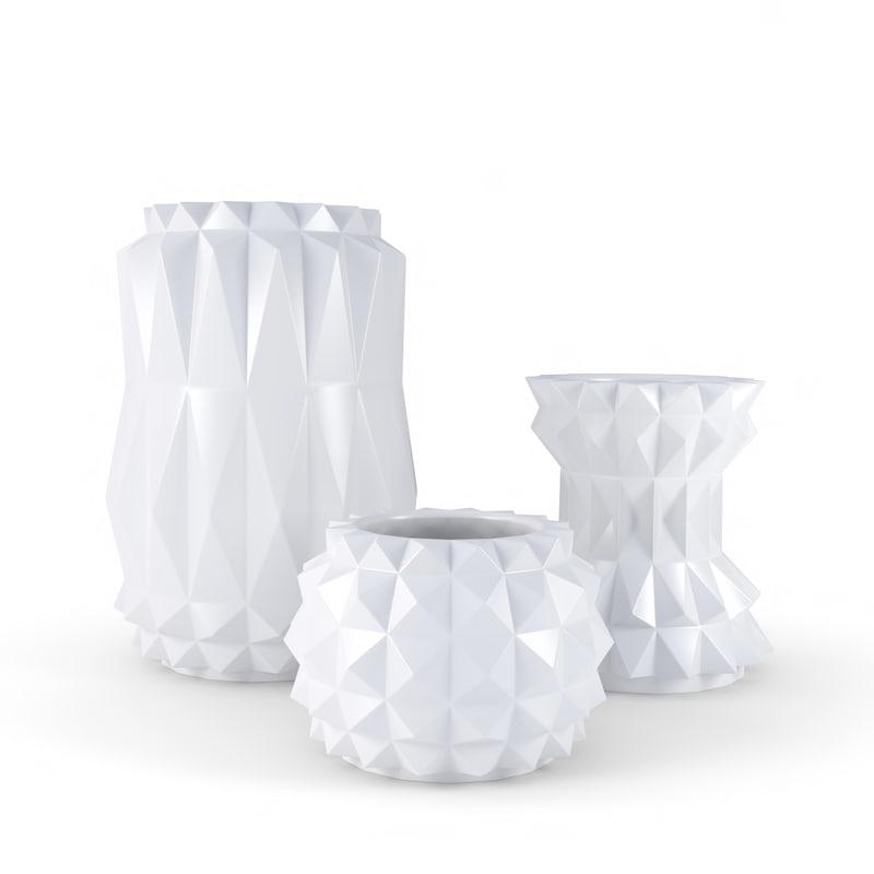 3D modern decor vase set
