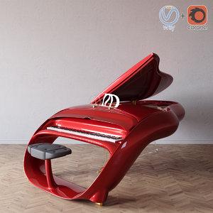 schimmel pegasus piano 3D