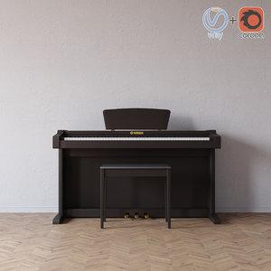 3D yamaha clavia piano