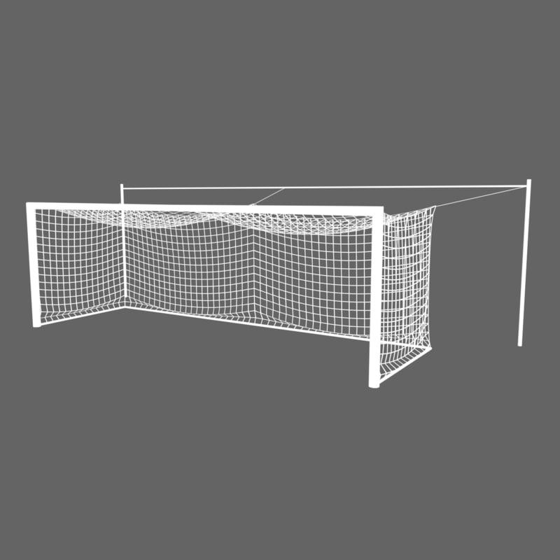 professional soccer goal 3D
