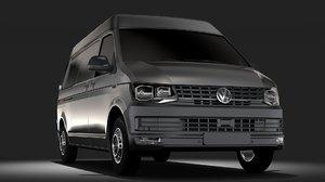 3D volkswagen transporter van