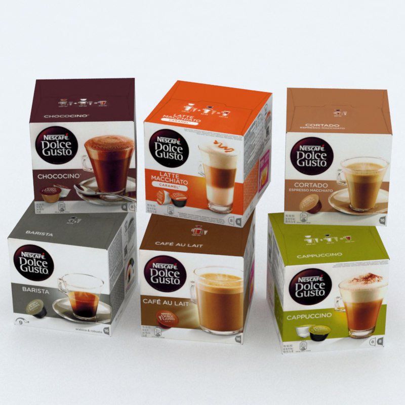 3D model nescafe dolce gusto boxes