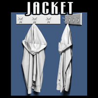 jacket coat rack 3D model