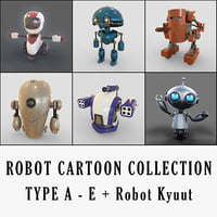 robot cartoon e b 3D model