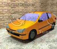 3D car peugeot 206