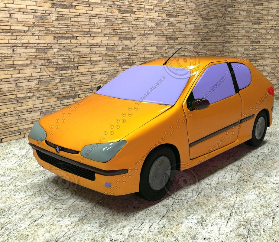 car peugeot 206 3D model