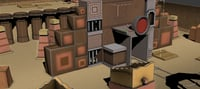 3D desert gaming environment